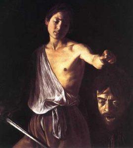 Davide con la testa di Golia, Caravaggio,, 1605/1606
